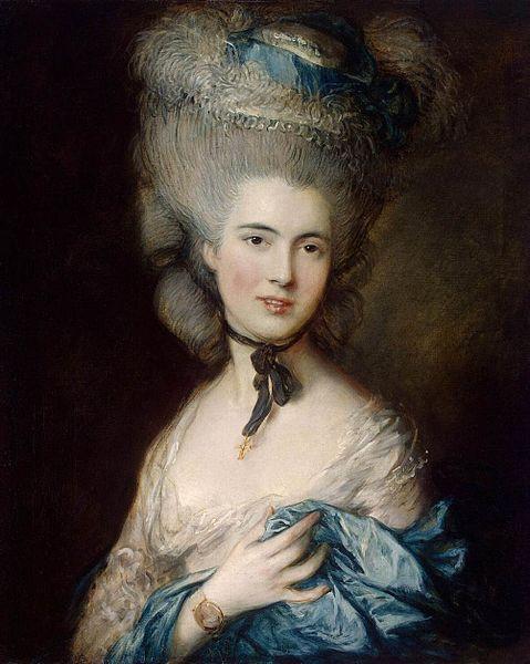 青い服を着た婦人の肖像