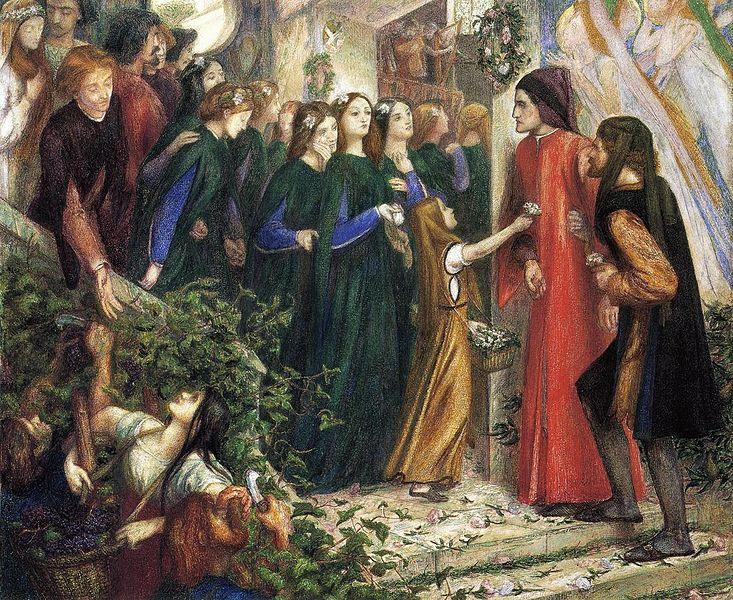 結婚の祝宴でダンテに会釈を拒むベアトリーチェ