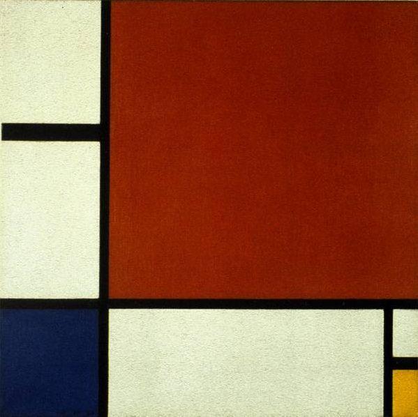 赤、黄および青のコンポジション