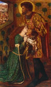 St George and Princess Sabra 1862 Dante Gabriel Rossetti 1828-1882 Bequeathed by Beresford Rimington Heaton 1940 http://www.tate.org.uk/art/work/N05231