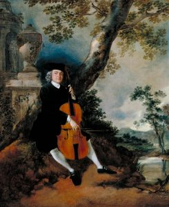 The Rev. John Chafy Playing the Violoncello in a Landscape c.1750-2 by Thomas Gainsborough 1727-1788