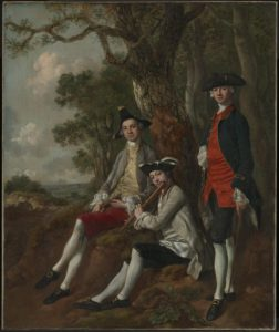 Peter Darnell Muilman, Charles Crokatt and William Keable in a Landscape c.1750 by Thomas Gainsborough 1727-1788