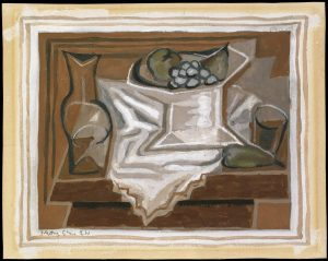 Bowl of Fruit 1924 Juan Gris 1887-1927 Presented by Gustav and Elly Kahnweiler 1974, accessioned 1994 http://www.tate.org.uk/art/work/T06813