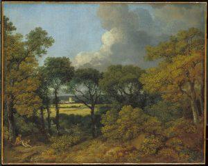 農民が休む森の風景