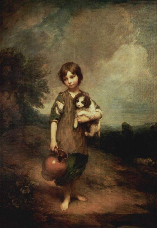 犬と水差しを持つ田舎娘》トマス・ゲインズバラ|MUSEY[ミュージー]