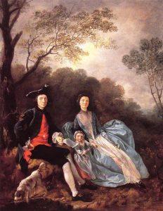 画家と妻、娘の肖像