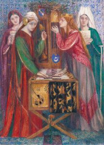 The Blue Closet 1857 Dante Gabriel Rossetti 1828-1882 Purchased with assistance from Sir Arthur Du Cros Bt and Sir Otto Beit KCMG through the Art Fund 1916 http://www.tate.org.uk/art/work/N03057