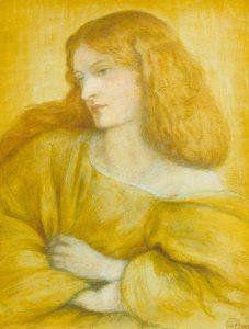 黄色の女性