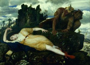 眠るディアナと二匹のファウヌス