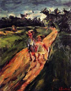道を歩く子どもたち