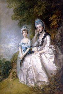 サセックス伯爵夫人ヘスターとその娘バーバラ・イェルバートン