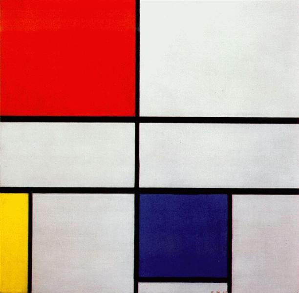 赤、黄、青のコンポジションC No.Ⅲ
