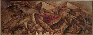Umberto Boccioni, Dinamismo plastico, Cavallo più caseggiato, 1915, Museo del Novecento, Milano