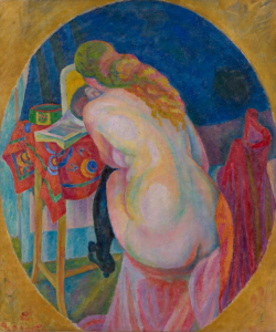 nude-woman-reading