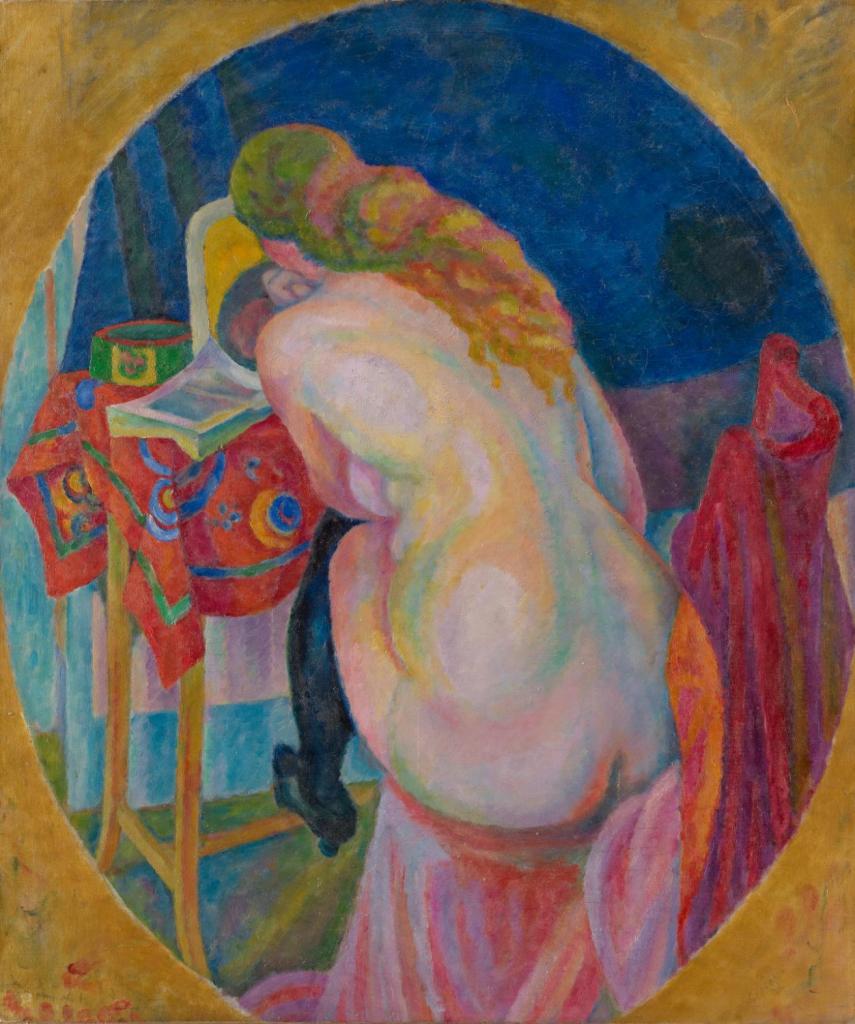 読書をする裸婦