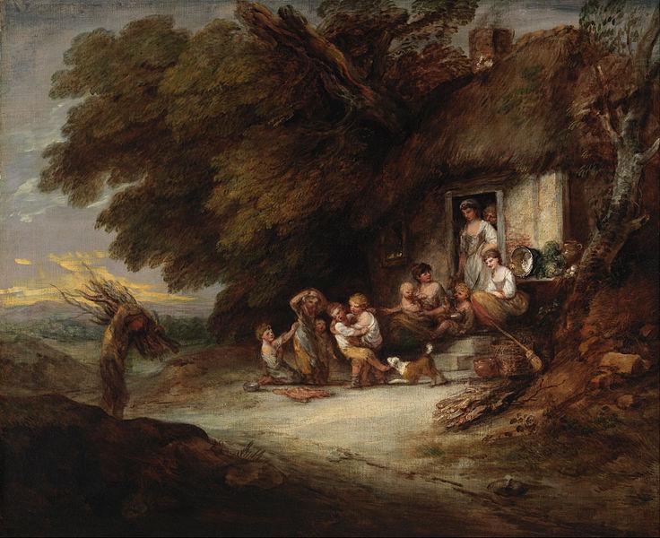 田舎家の戸口