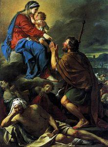 聖ロッコを癒す聖母