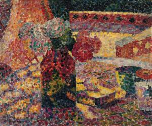 花と花瓶の静物画