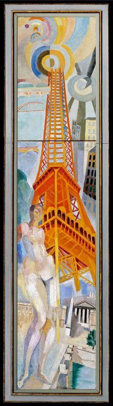 都市パリ、女性と塔