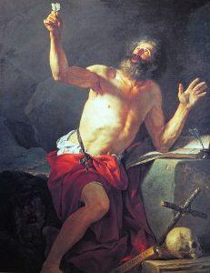 最後の審判のラッパを聞く聖ヒエロニムス