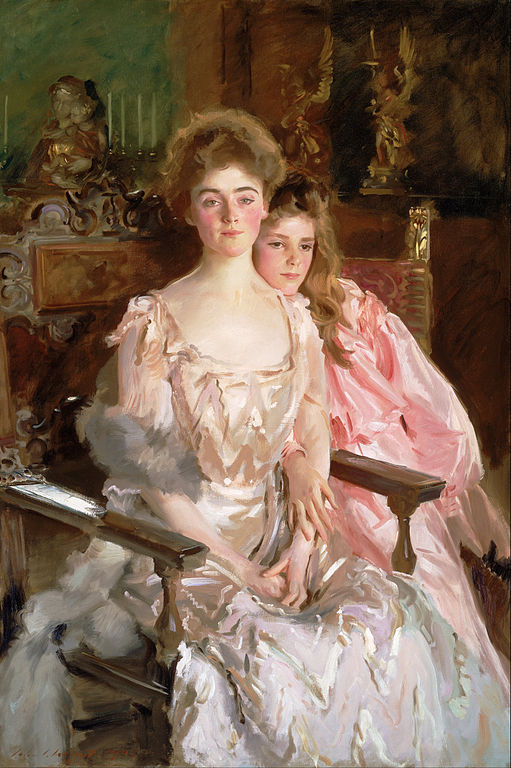 フィスク・ワーレン夫人と娘のレイチェル
