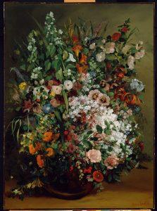 花瓶の中の花束