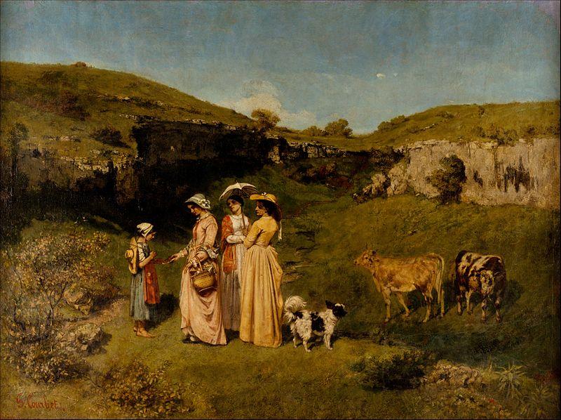 村の若い娘たち