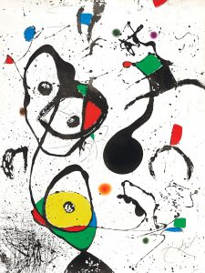joan-miro-etching-la-reine-des-ephemeres-the-queen-of-ephemeres-1975-for-sale
