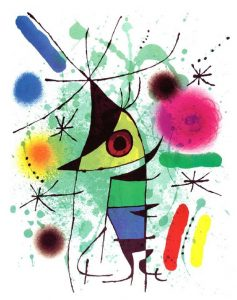 The Singing Fish Painting by Joan Miro; The Singing Fish Art Print for sale