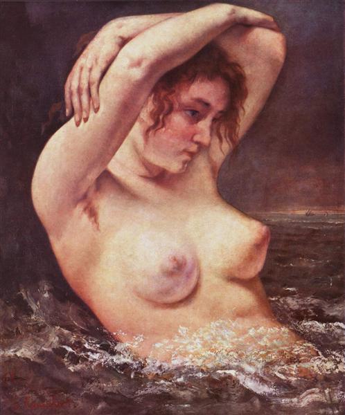 波の中の女
