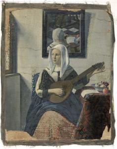 リュートを演奏する女