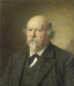 印刷所の所長(1876-96)、ヨハン・フィリップ・ケレン (1831-1906)