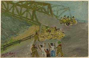 ジョグジャカルタ中心部のゴンドラユ橋での厳しい監視