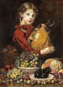 画家の娘、果物売りのモナローザ