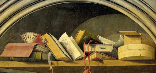 静物:  壁龕の中の書物