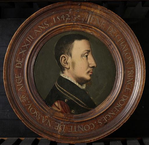 レネ・デ・シャロン(c.1519-1544)の肖像。オランジェの王子