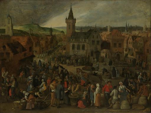 フランダースの街の市の日