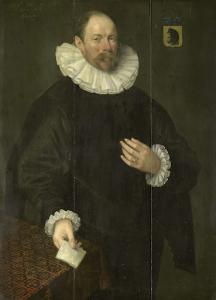 パウラス・コーネリッツ・ファン・ベレステインの肖像(1548-1625)、デルフトの市長