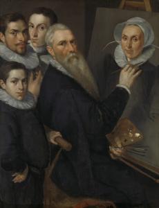 画家とその家族の肖像