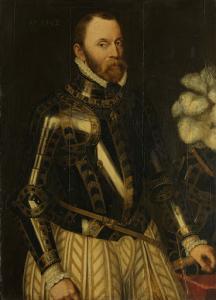 ホルネの伯爵、オランダの提督、国会評議会のメンバー、フィリップ・デ・モントモレンシーの肖像
