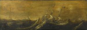 嵐の中の船