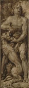 獅子を引き裂くサムソン