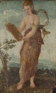 平板を書く女性