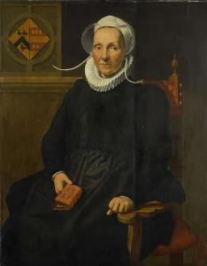 マシュー・アウグスティンズ・シュタインの妻、グラフトと呼ばれる、ディルク・ティマンスドル・ゲールの肖像