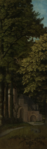 森の中の眺め、三位一体の外左翼