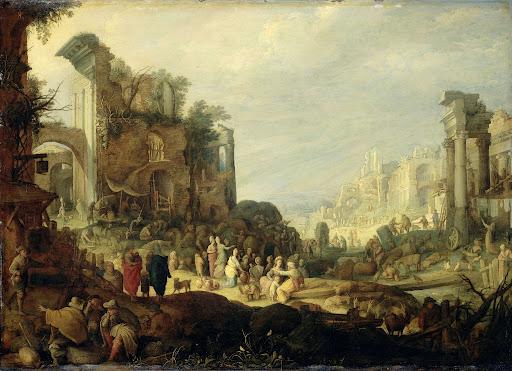 ローマの荒廃とレベッカとエリエゼールの対面の風景