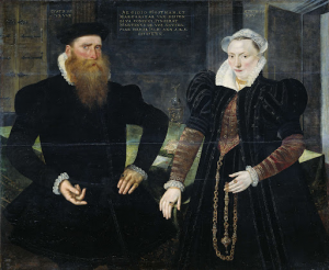 船主ギリス・ホーフトマンとその妻マルガレータ・ファン・ニスペンの肖像