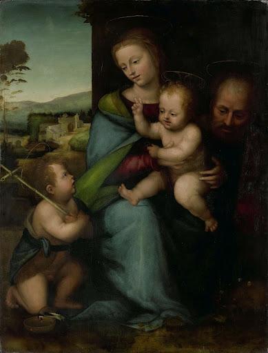幼子の洗礼者ジョンと聖なる家族