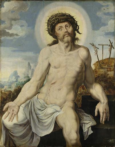 悲嘆にくれている男、キリスト
