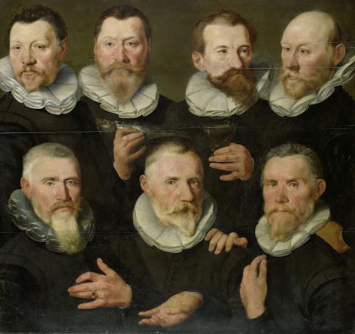 アムステルダムにて、ピーター・ディルクス・ハッセラー大尉とヤン・ゲリッツ・ホーフト中尉と仲間たち